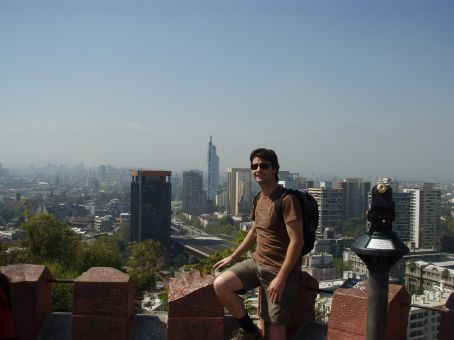 On top of fore mentioned park. Santiago was on the smoggy side.