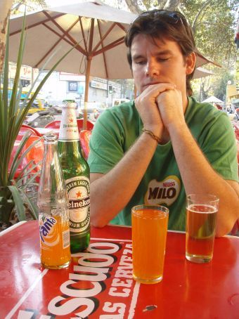 Fanta and beer,, together!?! When is Rome!! Not in your life! The locals drink it and Ange tells me it´s nice but i just can´t do it. Actually i have tasted it and it´s not too bad but i´ll think i´´ll leave my beer the way it is.