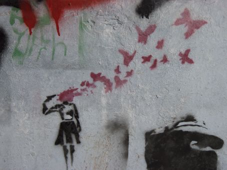 Some of the art/graffiti is a little disturbing but also alluring in some ways