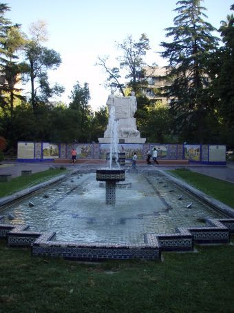 Plaza Espaná. The plaza is full of mozaics and fountains. Mendoza is full of parks like this. It was levelled by an earthquake about a hundred years ago so they rebuilt the city with wide streets and lots of plazas so that they could be used as an evacuation point if there was another big earthquake.