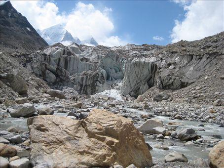 Gaumukh, the source of the holy river Ganga.