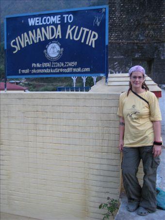Deb at the gates of the Sivananda Kutir, Netala, Uttarkashi, India