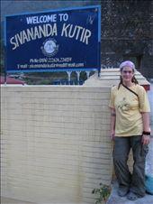 Deb at the gates of the Sivananda Kutir, Netala, Uttarkashi, India: by bamboozle69, Views[2538]
