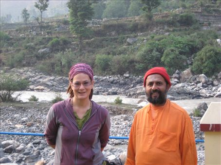 Swami-ji and me... He taught all of the lectures, philosophy, advanced Pranayama (breath control) and assisted the rituals.  A wonderful man.