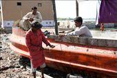 Fishermen repair boats with no safetey equipment : by basil_andrews, Views[274]