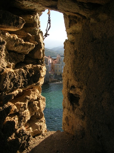 Looking through the fortress. St. Florent
