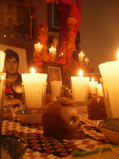 Memorial Day. Candles, food. Mexico
