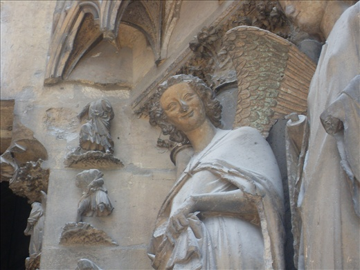 Smiling angel. Amiens' Cathedral. France
