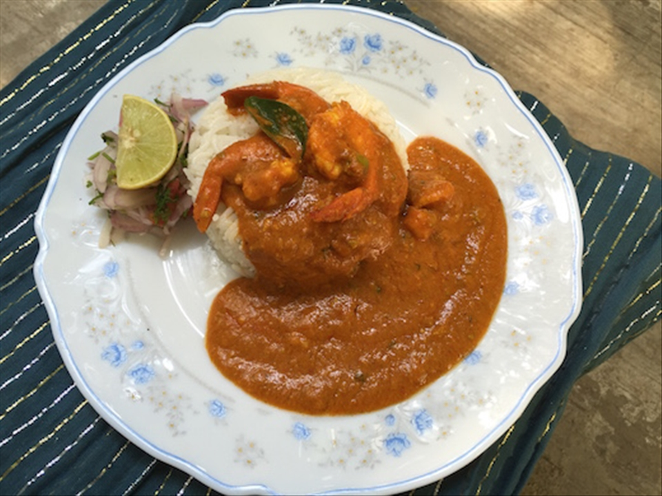 Dolly Mamaiji's Prawn Curry gone fancy