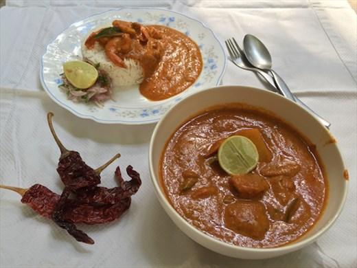 A big bowl of Dolly Mamaiji's Prawn Curry