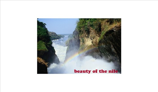 Sight of River Nile as the waters make thier way throug the hard rocks.