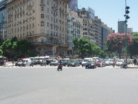 10 Lanes of Traffic in Buenos Aires CBD