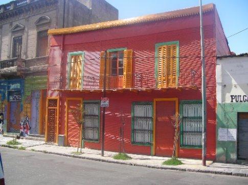 Colourful houses in La Boca