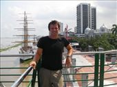 Simon on the Guayas boardwalk lookout in Guayaquil: by bec-simon, Views[323]