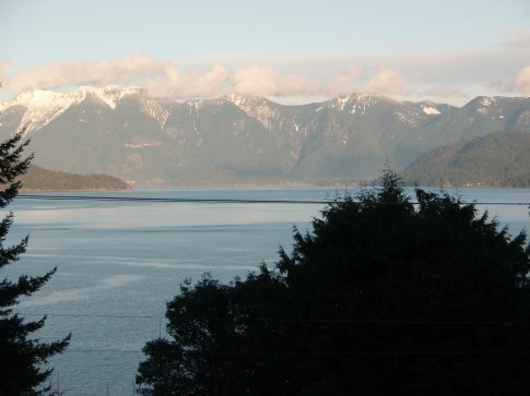 Mountains across Howe Sound