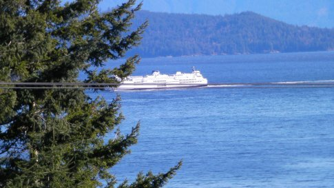 Ferry coming across from Vancouver to Langdale