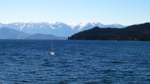 Howe sound from the Gibsons landing jetty
