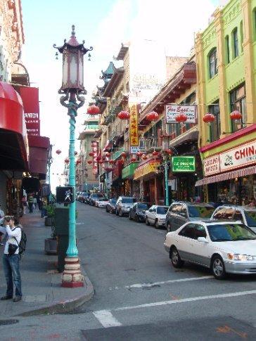 China town. Great food, cheap t-shirts
