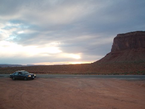Sandy in Monument Valley