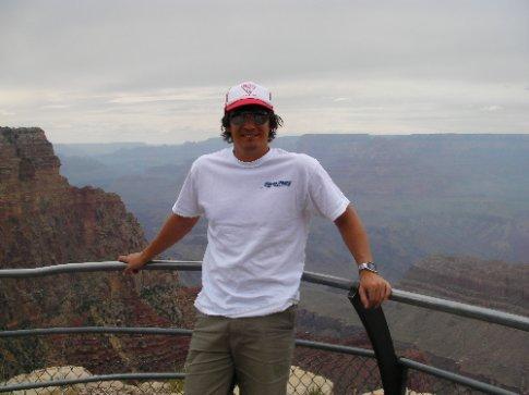 Simon at the Grand Canyon