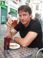 Simon enjoying a well deserved beer after a long day sightseeing in Madrid: by bec-simon, Views[272]