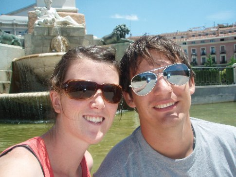 Us in Plaza de Oriente just out front of the Royal Palace