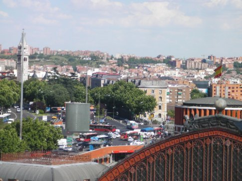 Madrid from on top of the Reina Sophia Museum