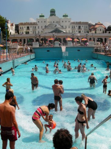 Wave pool in Budapest. The water comes from the thermal springs