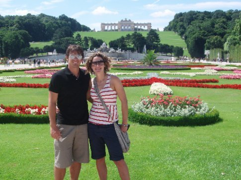 Simon and Leah in the Summer Palace gardens - Vienna - Austria ...