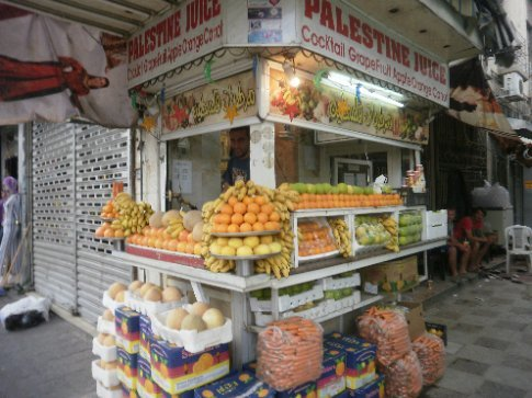 Awesome fruit juice stand in Amman that we frequented a lot