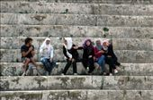 Steve with the local ladies in Jerash theatre: by bec-simon, Views[315]
