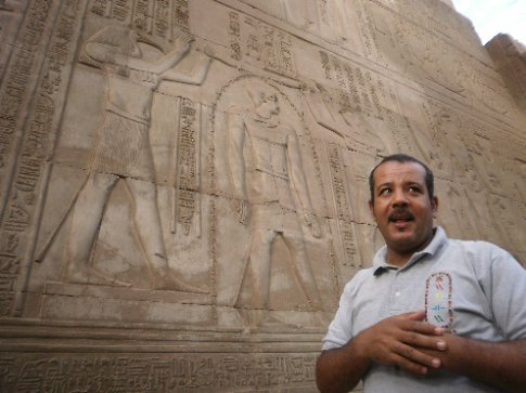 Ahkmed lecturing us about Kom Ombo temple. He was our personal tour guide along the Nile