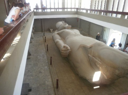 Really big statue of Rameses II. His statues are everywhere