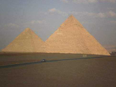 The great pyramids of Giza. Quite nice when you finally get away from the local harassment