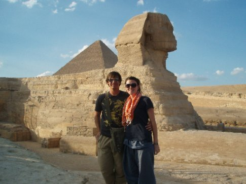 Us at the Sphinx. Its not as big as you'd think