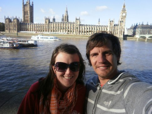 Us at Southbank, opposite the House of Parliament