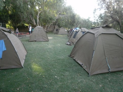 Our tents which became our home for the 3 weeks
