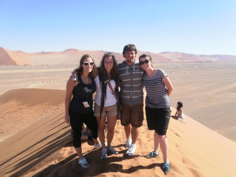 Charisse, Sidney, Simon and Bec on Dune 45