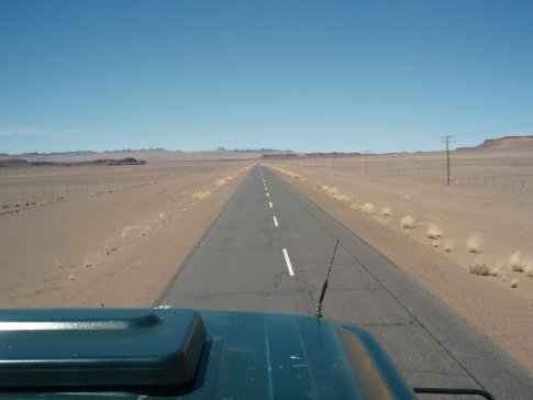 Namibia is almost entirely like this...desert
