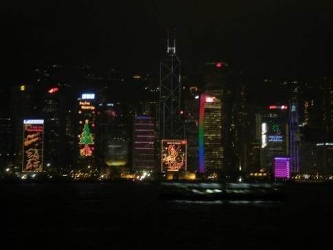 Hong Kong lit up with Christmas decorations