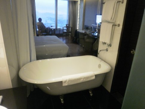 Our room on the 60th floor of the hotel