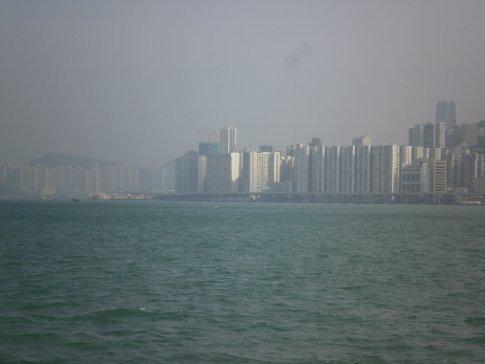 Hong Kong suburbs sprawling off into the smog