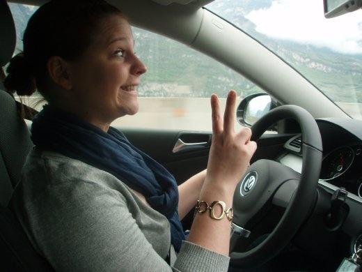 Isabel driving us around Sud Tirol