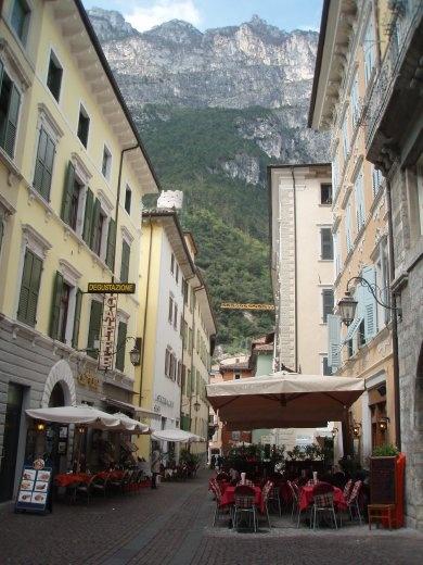 Sidewalk cafes in Riva del Garda