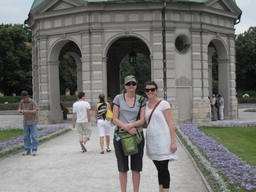Bec and Sarah in the Residenz Gardens