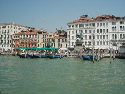 Gondolas along the waterfront