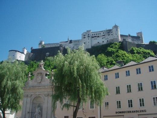 Castle overlooking Salzburg