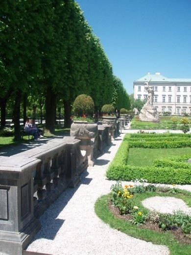 Looking along Mirabell gardens