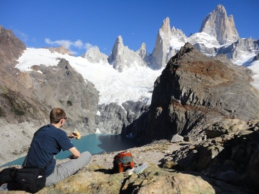 A scenic lunch stop by Mount Fitzroy