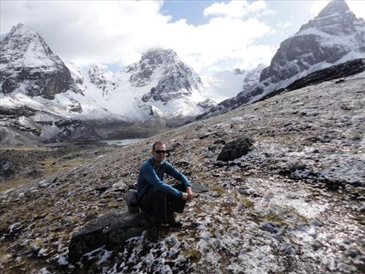 Day 4: Phil and views back to Condoriri